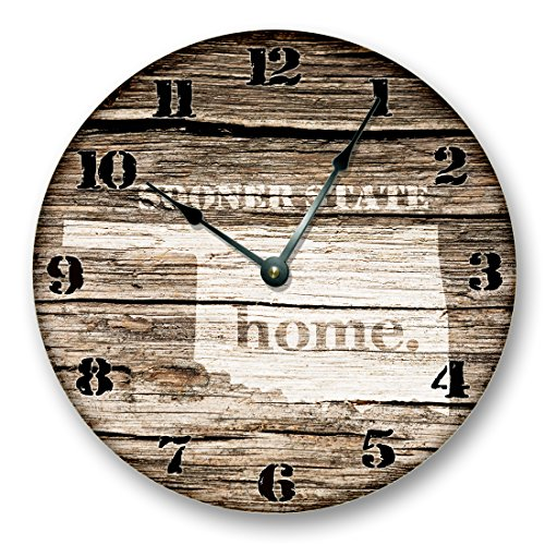 OKLAHOMA STATE HOMELAND CLOCK -SOONER STATE - Large 10.5