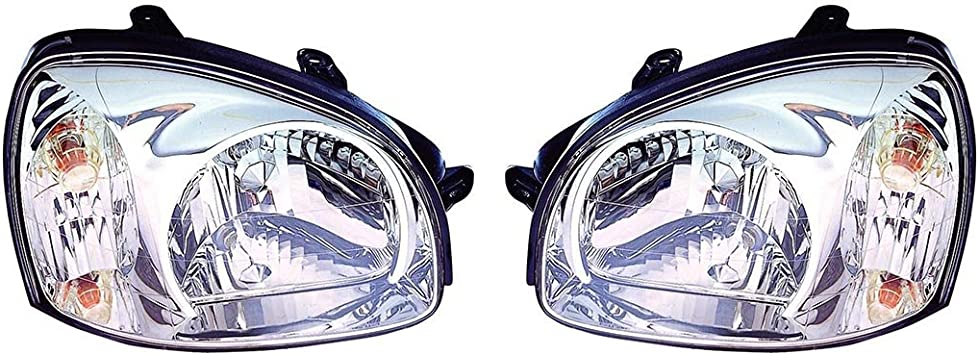 Fits 2003-2006 Hyundai Santa FE Headlight Pair NSF HY2502134