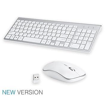 LanLan Teclado y ratón inalámbrico Profesional Set Ultra-Fino, Teclado y ratón Mute Gaming, Teclado y ratón sin Ruido: Amazon.es: Hogar