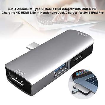 guowei0074 Concentrador USB C, 4 En 1 Concentrador USB Tipo ...