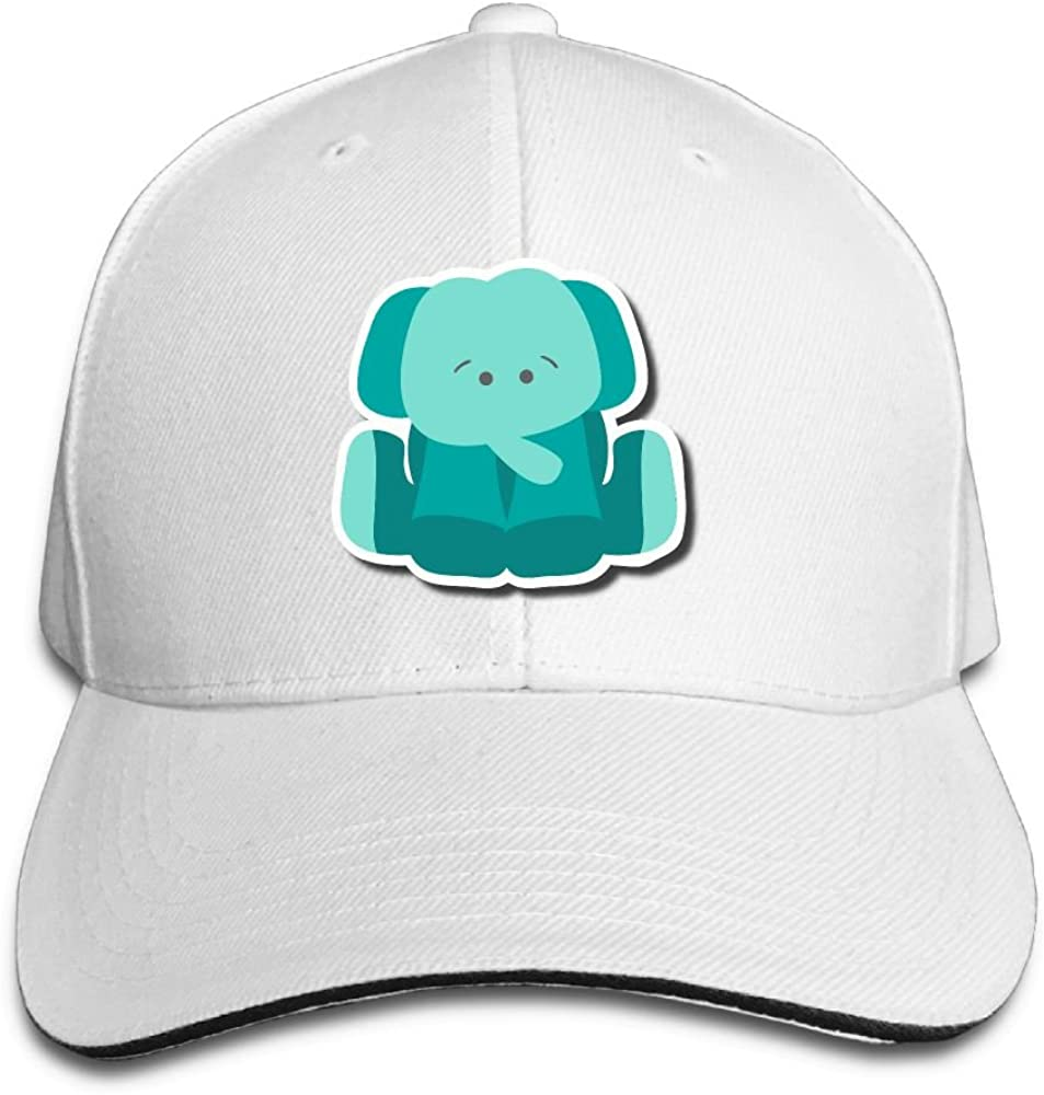 Unisex Cute Cartoon Elephant Art Sandwich Peaked Cap Adjustable Cotton Baseball Caps