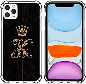 iPhone 12 Pro Max Case, Golden King's Crown iPhone 12 Pro Max Cases for Women Girls,Clear Design Soft&Flexible TPU Shockproof Transparent Bumper Protective Cover Case for iPhone 12 Pro Max