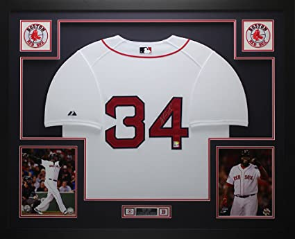 new products 10b11 195e1 David Ortiz Autographed White Red Sox Jersey - Beautifully ...