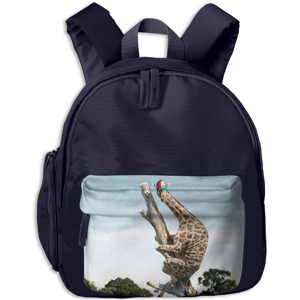 Giraffe Up A Tree Print Children\'s Fashion Backpack School Bookbag 3.9 X 10.6 X 12.5 inch