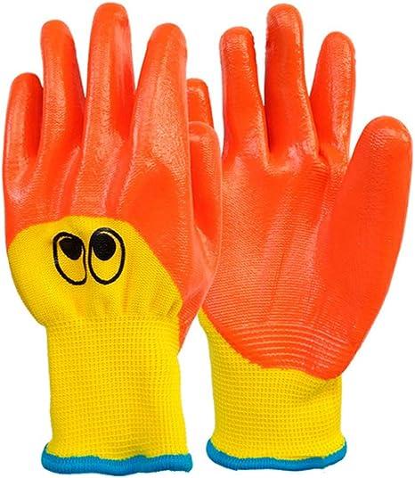 LYF Guantes de Jardinería para Niños Ducky Guantes de Trabajo Impermeables de Protección Guantes de Agarre de Jardín Guantes de Paja para Niños Talla Única para Edades (4-7) Amarillo/Naranja: Amazon.es: Deportes y