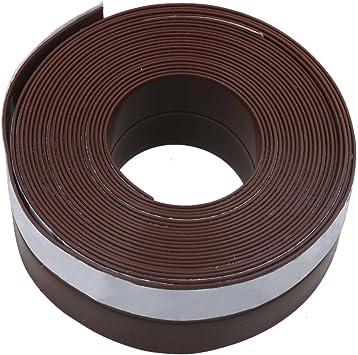 BQLZR 5 metros Longitud 25 x 1 mm marrón/negro puerta de garaje burlete de goma tira de sellado para ventanas correderas deslizantes puertas: Amazon.es: Bricolaje y herramientas