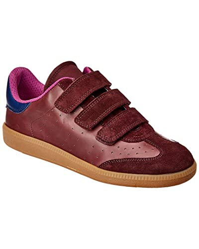 1205cfe868c Amazon.com | Isabel Marant Beth Color Block Leather & Suede Low Top Sneaker,  36, Red | Fashion Sneakers