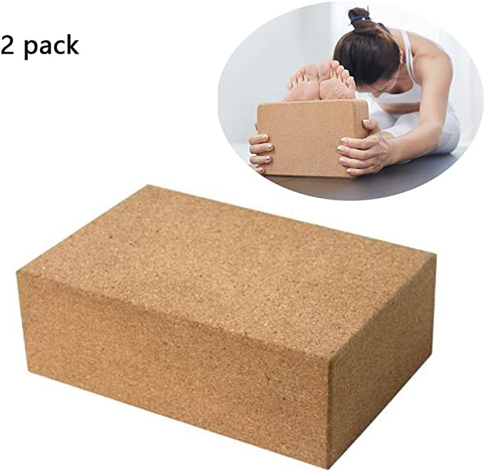 Yoga Block 2 Pack Plus Correa Corcho Ladrillos de Yoga Ecológico ...