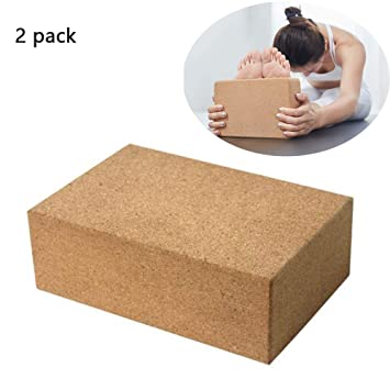 Yoga Block 2 Pack Plus Correa Corcho Ladrillos de Yoga ...