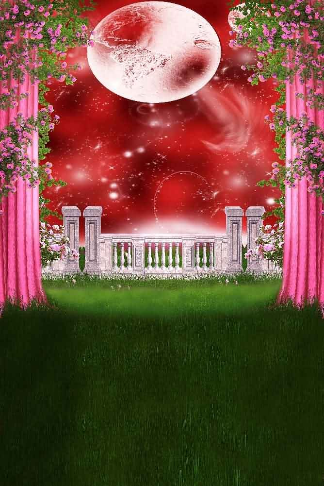 GladsBuy Wonderful Stage 8' x 12' Digital Printed Photography Backdrop Curtain Theme Background YHB-023