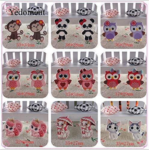 - MOBITEL Figurines & Miniatures - Flat Back planar Resin 10pcs/lot owl and Animals Flatback planar resins for Kids DIY Decoration Crafts Accessories 1 PCs