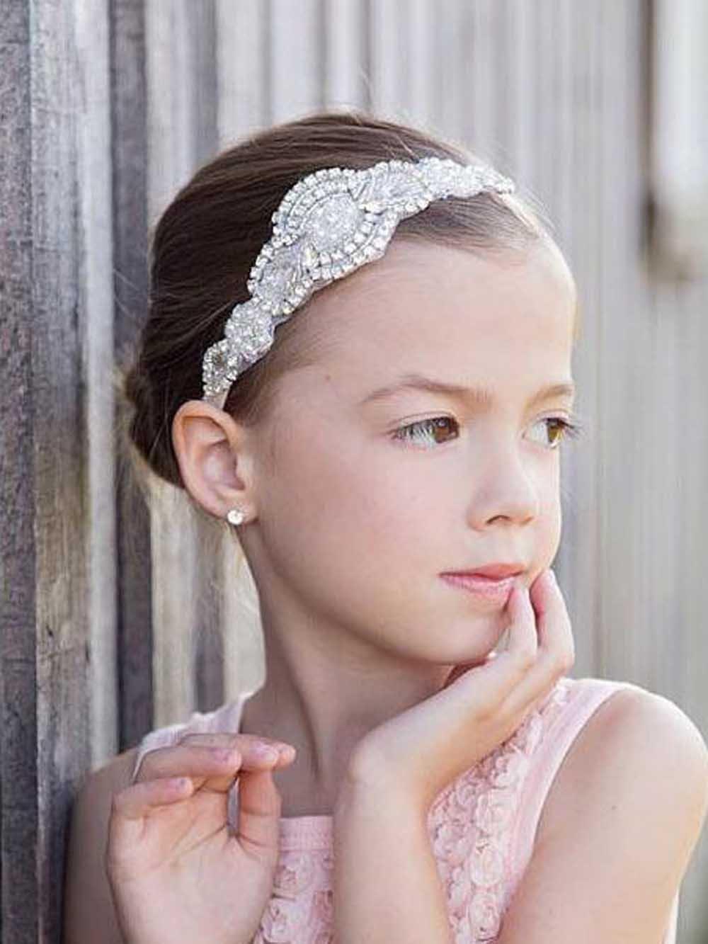 unicra flower girl headband rhinestone headband bridal headband crystal headband