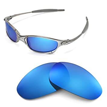 2617bf81fc Walleva Replacement Lenses for Oakley Juliet Sunglasses - Multiple Options  (Ice Blue)