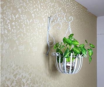 Amazon De Europaischen Stil Eisen Wand Hangende Blumentopfe Grune
