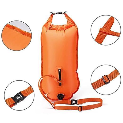 Flotador de natación,boya de seguridad natacion para natación y bolsa seca,para nadadores de aguas abiertas, triatletas, kayakers y buceadores, ...