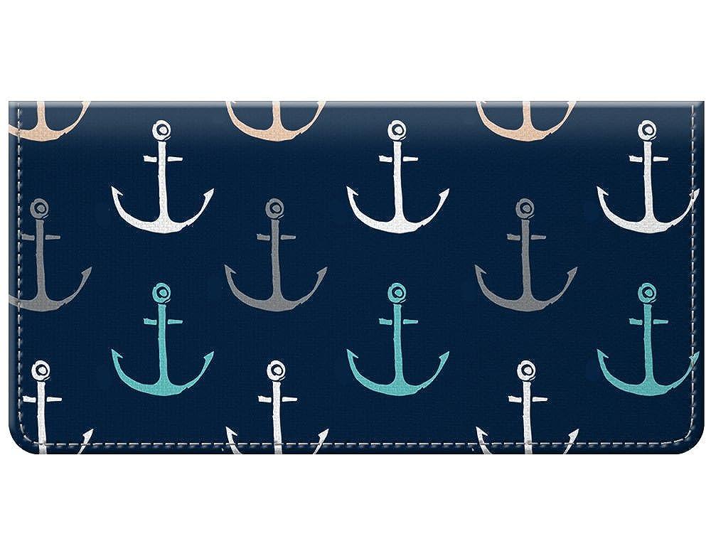 Snaptotes Nautical Anchor Design Checkbook Cover 011-000D0034-AnchorNvy