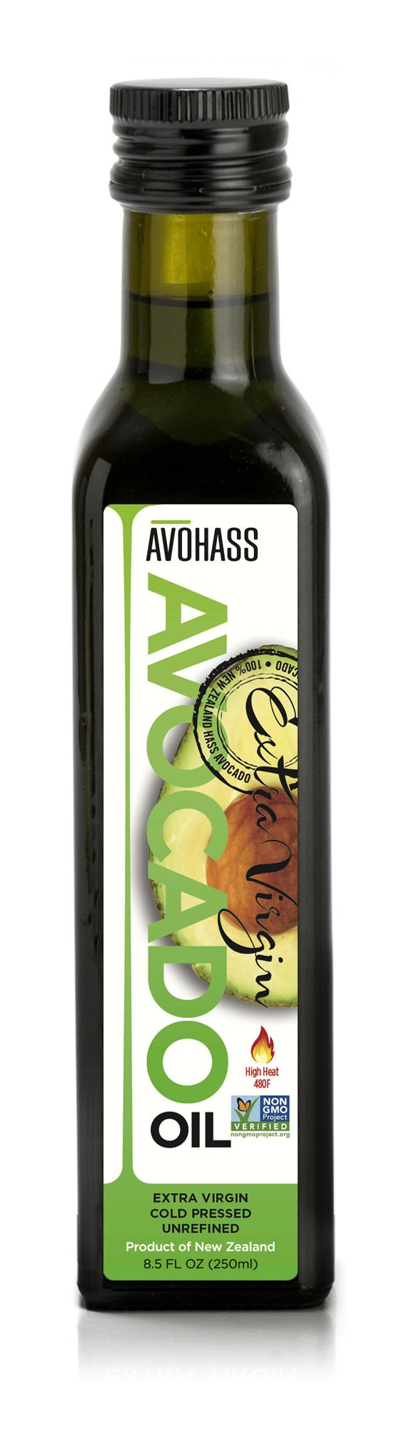 Avohass New Zealand Extra Virgin Avocado Oil 8.5 fl oz
