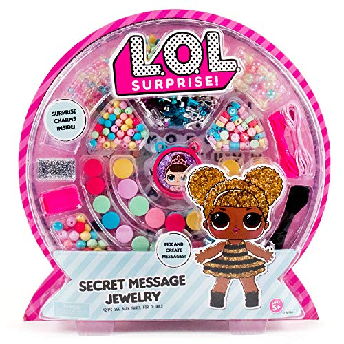L.O.L. Surprise! Secret Message Jewelry by Horizon Group USA, DIY Jewelry Making Craft Kit, Includes 400+ Beads & Charms…
