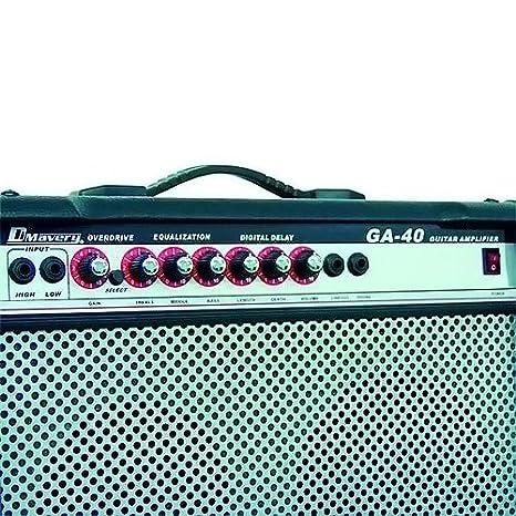 Dimavery 26360140 GA-40R guitarra eléctrica del amplificador (40 vatios): Amazon.es: Instrumentos musicales