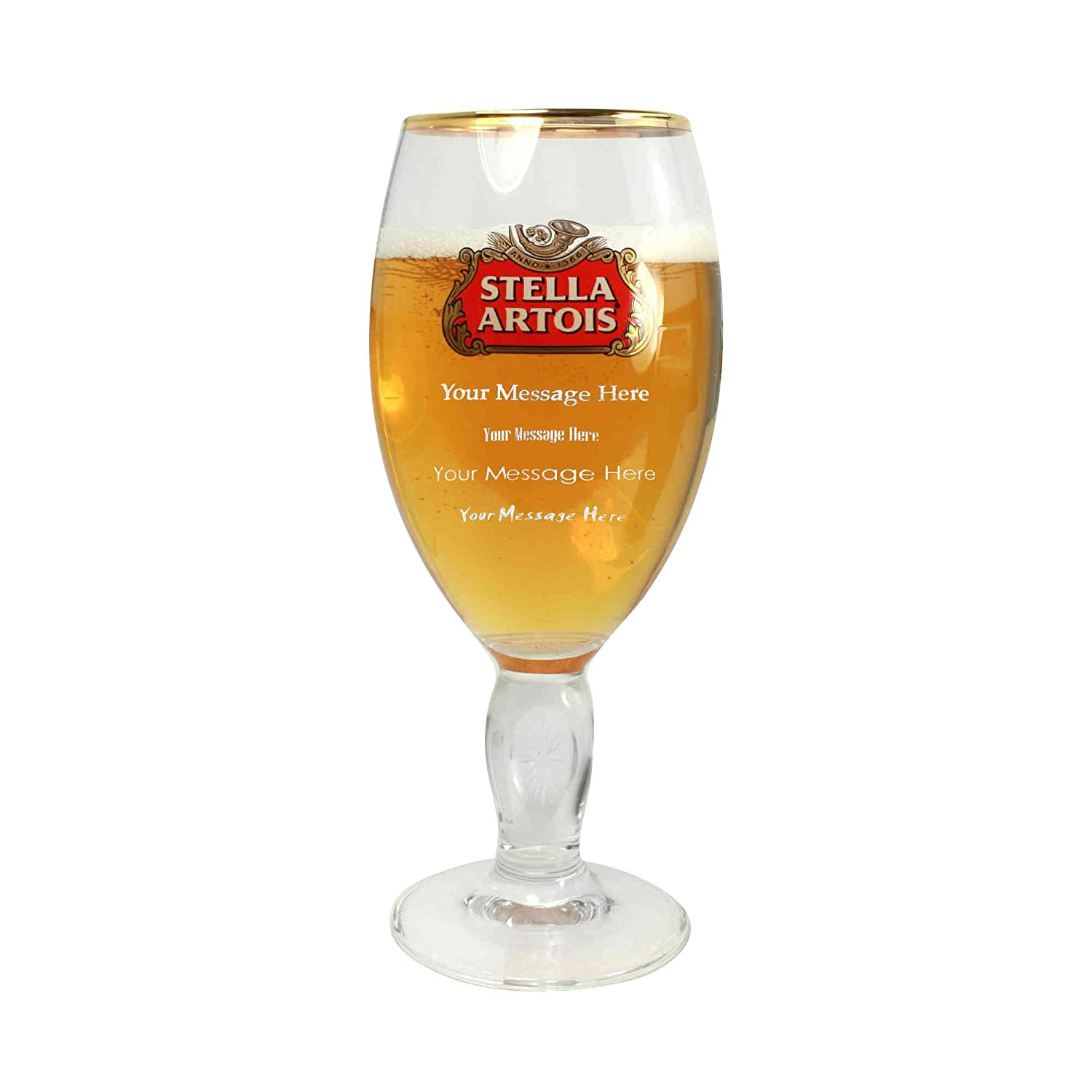 568ml TUFF LUV Personalised 20oz Fosters Engraved Pint Beer Glass