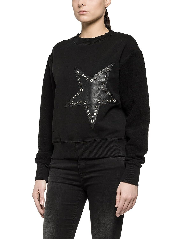 Replay Women's Women's Sweatshirt In Black Color 100% Cotton