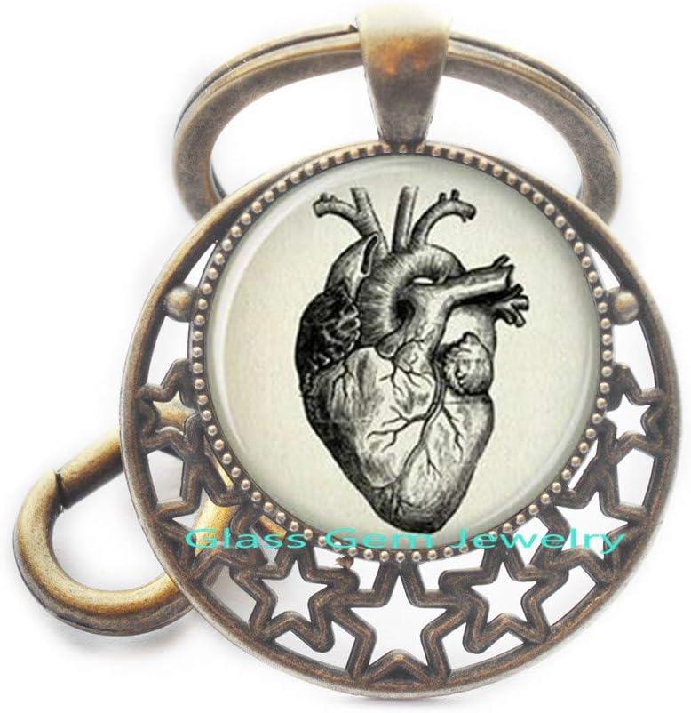 Anatomical Heart Key Ring Anatomical Heart Keychain Anatomical Heart Jewelry,Q0132