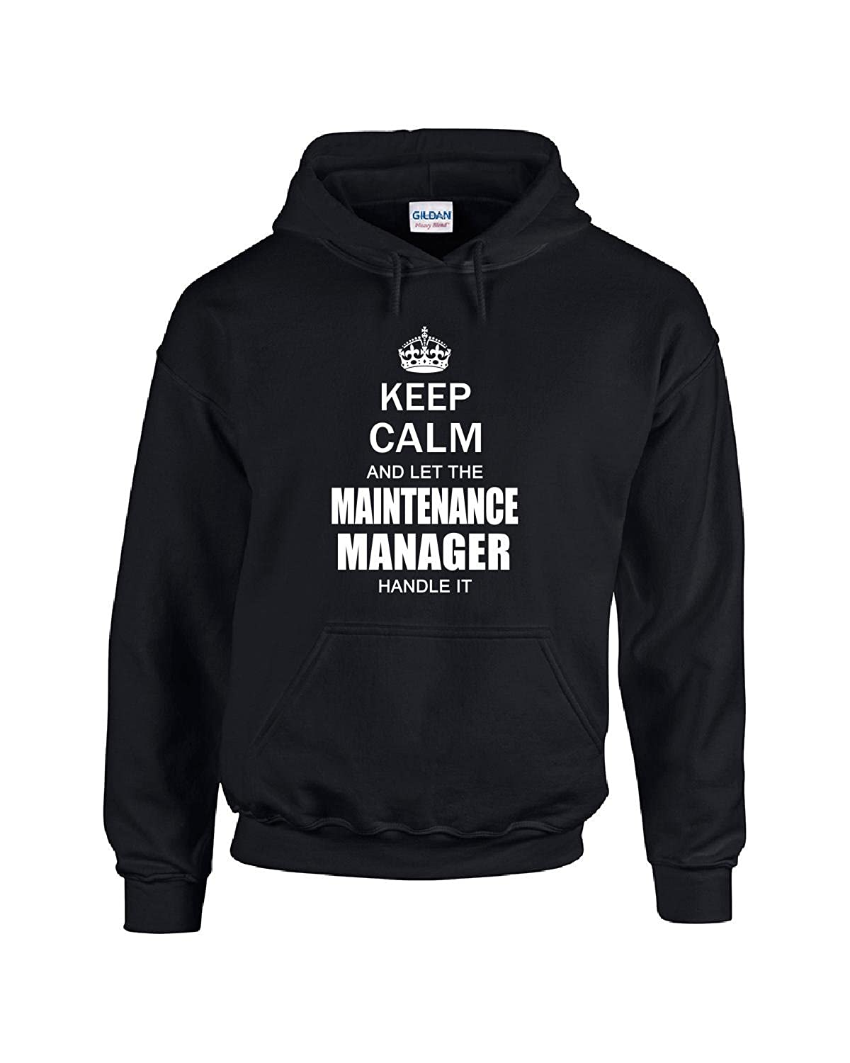 333a3355b8 Keep Calm And Let The Maintenance Manager Handle It Funny - Adult Hoodie