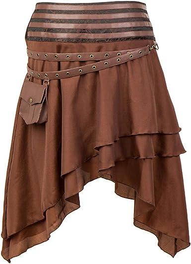 Falda de Baile Nacional Falda Punk gótica de Mujer Falda de ...