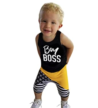 For 1 4 Years Old Baby Boys Outfit Newborn Baby Boy Letter Vest Tops
