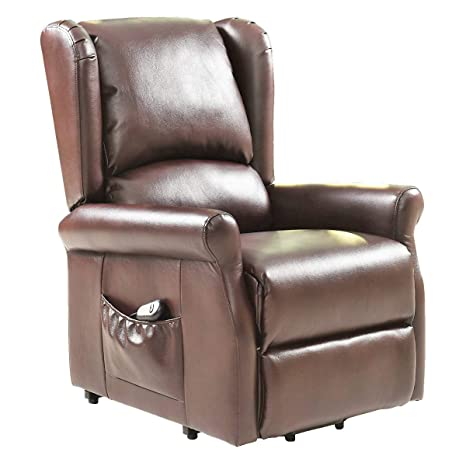 Miraculous Amazon Com Lucky T Brown Electric Lift Chair Recliner Inzonedesignstudio Interior Chair Design Inzonedesignstudiocom