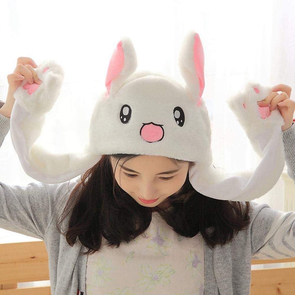 danniversaire KGM Accessories Chapeau de lapin avec oreilles d/épliantes pour filles adultes enfants chaton rose cadeau de No/ël