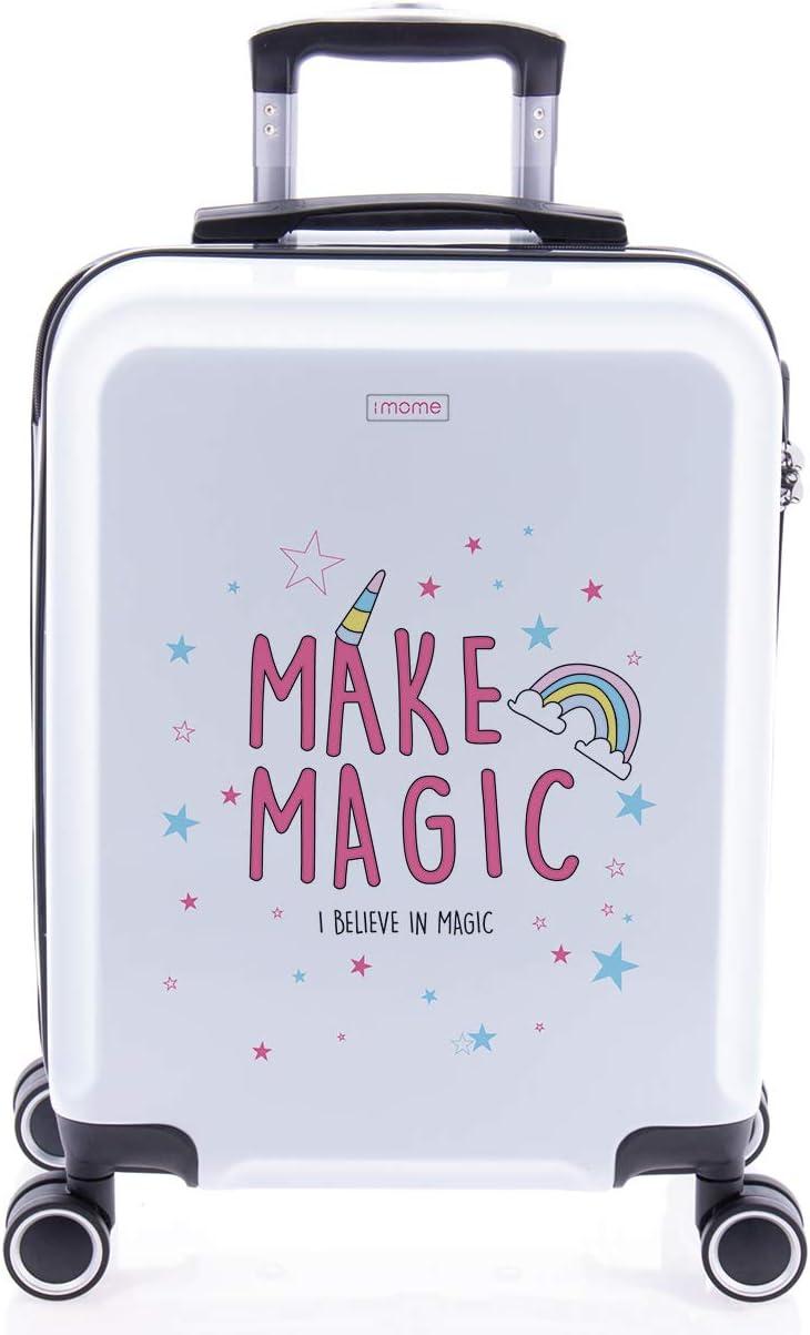 imome Cool Maleta de Cabina Infantil Make Magic 55x40x20 cm | Equipaje de Mano, Trolley de Viaje Ryanair, Easyjet | Maleta de Viaje Rígida Divertida Juvenil