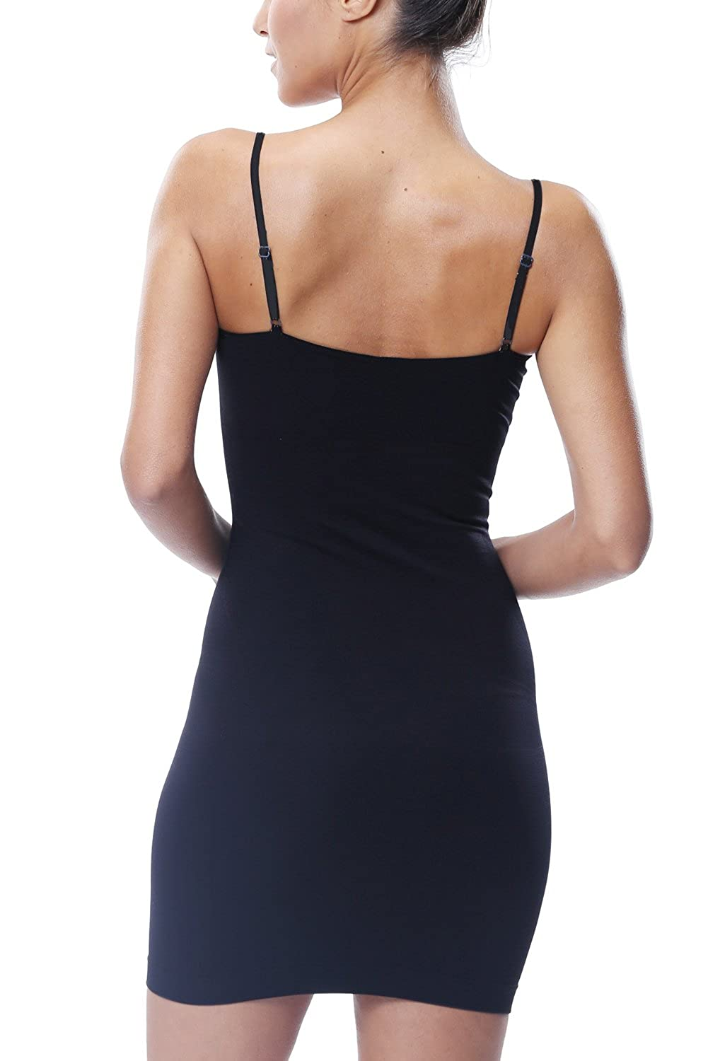 Women Full Body Shaper Control Slip with Lace Adjustable Strap Casual Cami Slip