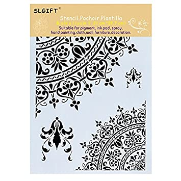 amazon co jp a4 size diy decorative mandala stencil template