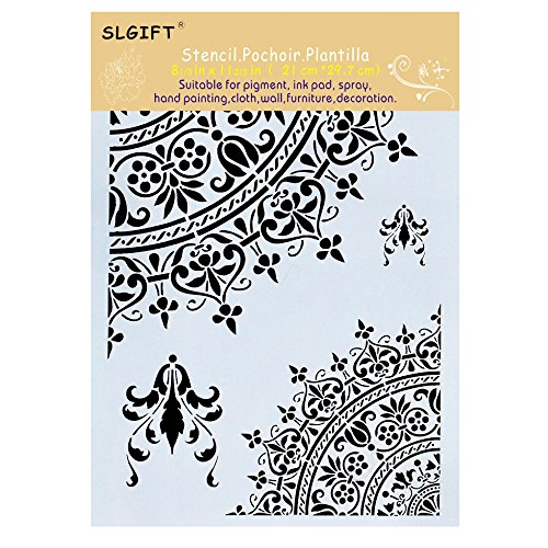 (DIY Decorative Mandala Stencil Template for Painting on Walls Furniture Crafts, Mandala (A4 Size))