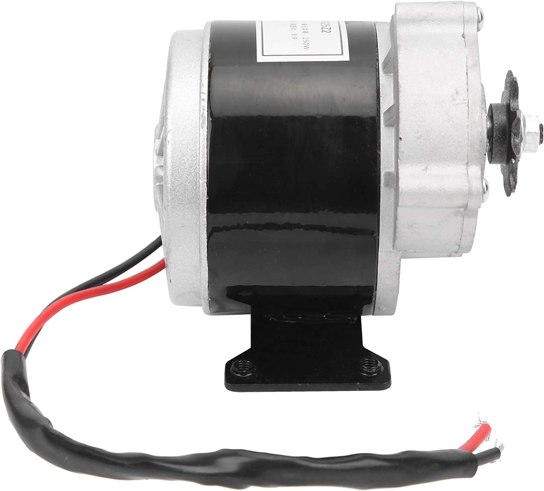 Archuu Controlador de Velocidad, Motor eléctrico silencioso de 12V 250W DC Motor de Engranaje eléctrico de 250W para Bicicleta eléctrica