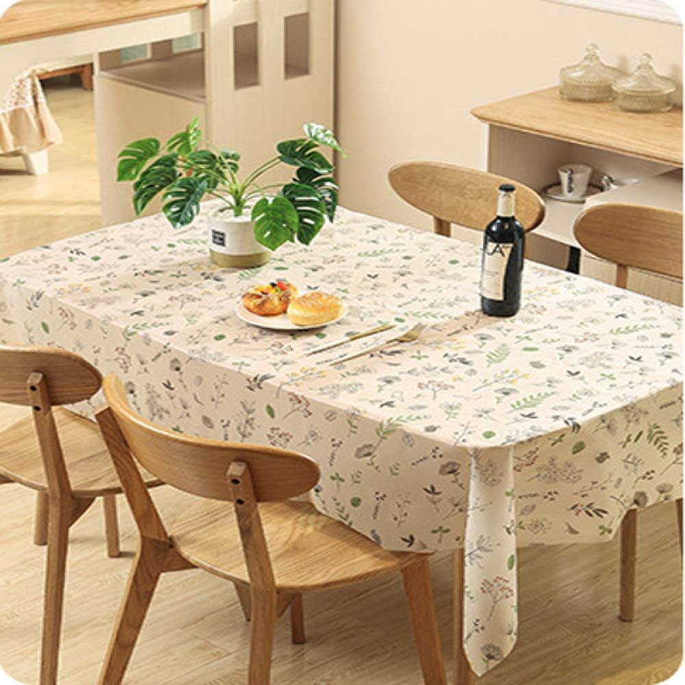 DJUX New PEVA - Mantel impermeable para mesa de café impreso (90 x 137 cm), Flores pequeñas., 137*180cm