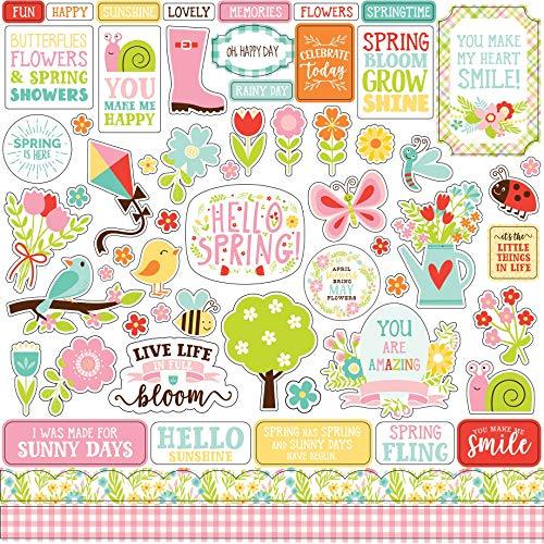 Echo Park Paper PF173014 Spring Fling Cardstock Stickers 12