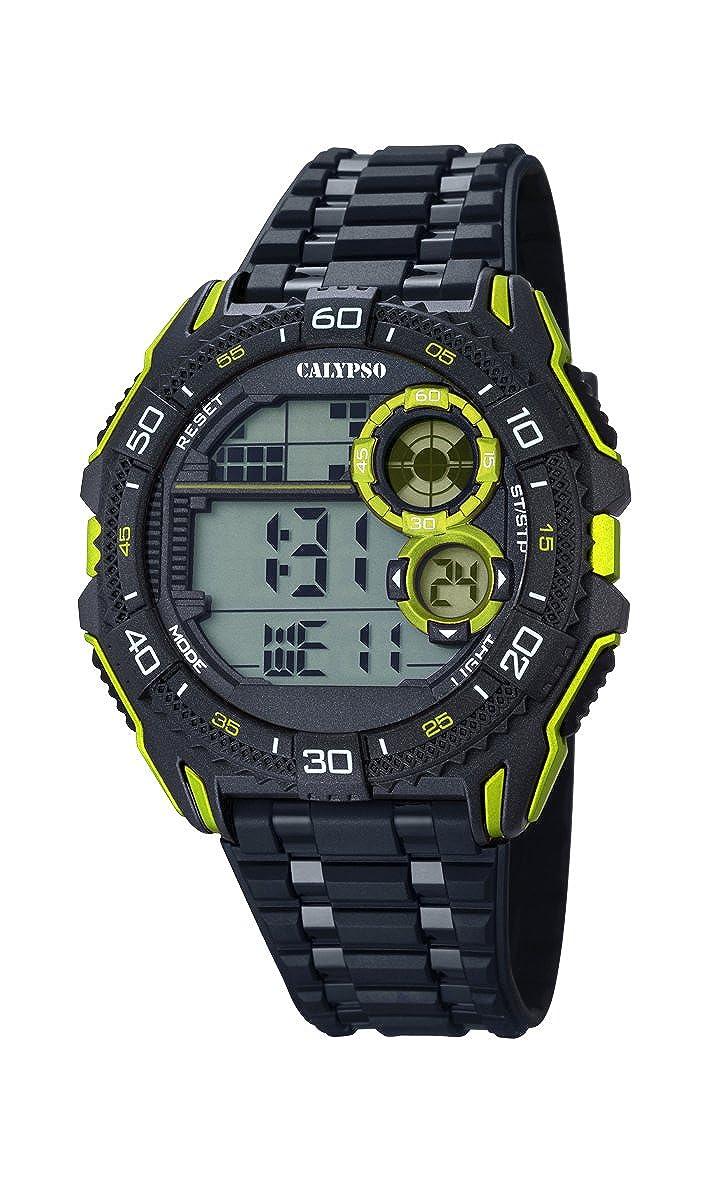 Calypso Hombre Reloj Digital con Pantalla LCD Pantalla Digital Dial y Correa de plástico en Color Negro K5670/7