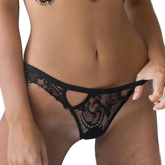 b358fe8432d3 Malbaba Womens Girls Sexy Lace Underwear Briefs Panties G-String Lingerie  Thongs (S,