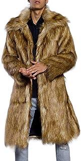 Limsea 2019 Fashion Mens Warm Thick Overcoat Coat Jacket Faux Fur Parka Outwear Cardigan