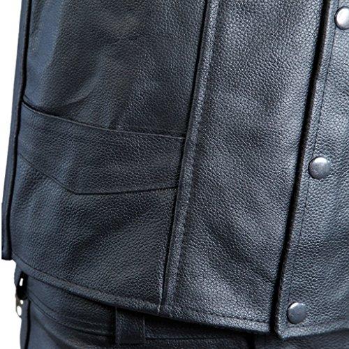 Parte Trasera nbsp;x lemoko Bike en piel la Negro nbsp;– Hombre Moto águila nbsp;Chaleco diseño l de con Talla S 4 FT7TqPw