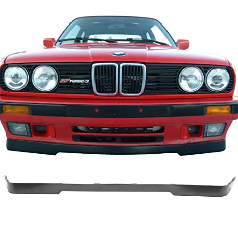 Front Bumper Lip Fits 1984-1992 BMW E30 | OE M-T Style PU Black by