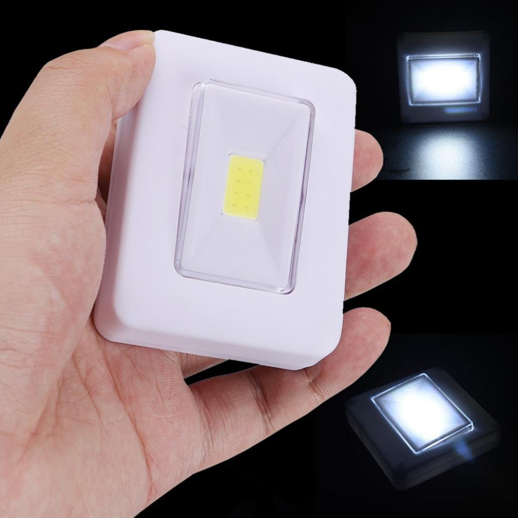 yjydada LED夜間ライトCOB LEDコードレススイッチ壁ライト電池式under Cabine B07BLK91K3 12584