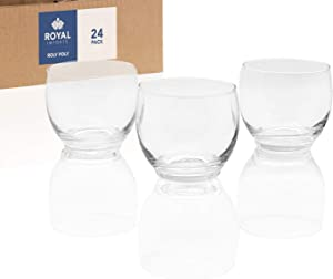 Royal Imports Candle Holder Glass Votive for Wedding, Birthday, Holiday & Home Decoration, Roly Poly, Set of 24 - Unfilled
