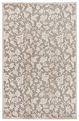"""Jaipur Living Lucie Floral & Leaves Gray/Silver Area Rug (5' X 7'6"""") from Jaipur Living"""