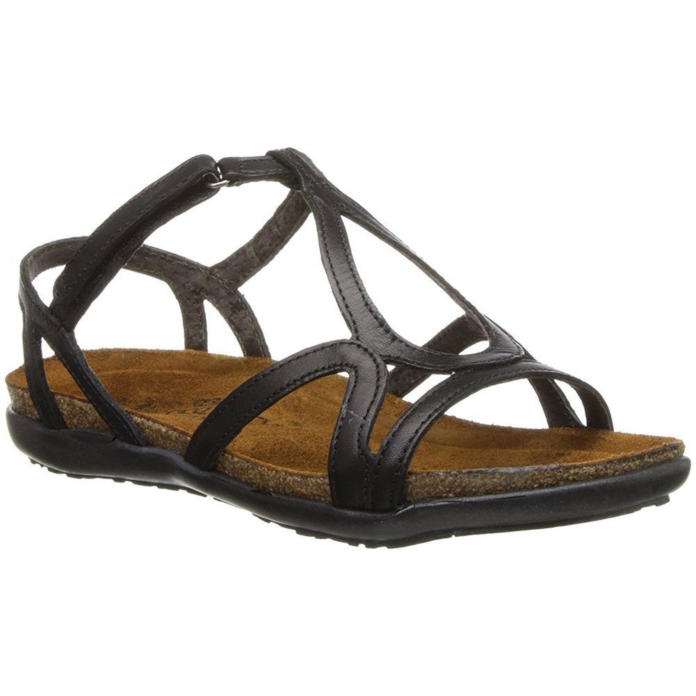 NAOT Women's Dorith Sandal (41 M EU/10-10.5 B(M) US, Black Raven Leather)