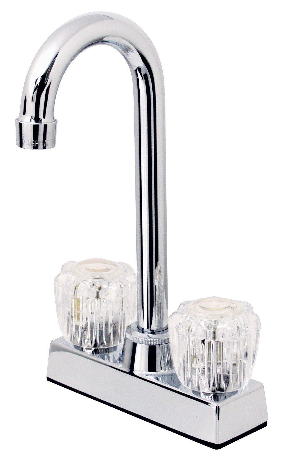 Hardware House 124997 2-Handle High Rise Bar Faucet, Chrome
