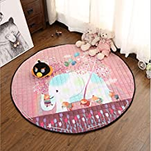 """Ustide Elephant Toy Mats For Kids,Baby Soft Play Crawling Activity Safe Floor Mat Area Rug Cushion Blanket,59"""""""