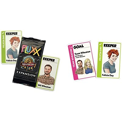 Fluxx 2015 International Tabletop Day Promo Expansion Pack (Fluxx Promo Pack 2015 TableTop Expansion (Geek And Sundry Wil Wheaton Felicia Day): Toys & Games